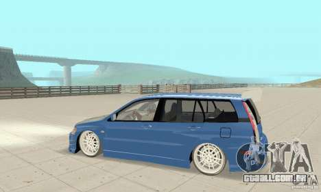 Mitsubishi Lancer Evolution IX Wagon MR Drift para GTA San Andreas vista traseira