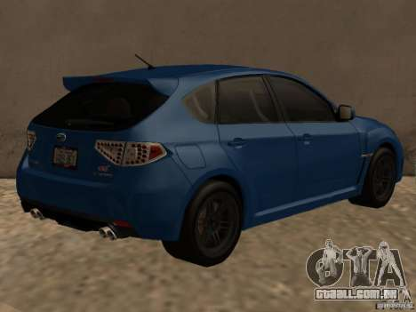 Subaru Imreza WRX para GTA San Andreas vista direita