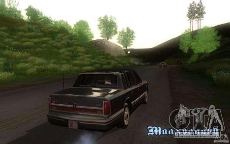 Lincoln Towncar 1991 para GTA San Andreas vista traseira