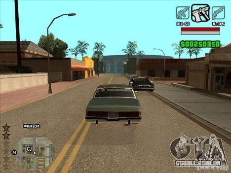HUD by Alex para GTA San Andreas segunda tela