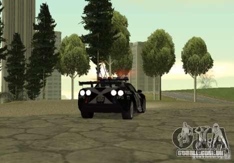 Chevrolet Cross Corvette C6 para GTA San Andreas traseira esquerda vista