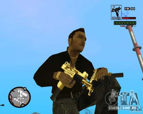 Micro Uzi Gold para GTA San Andreas
