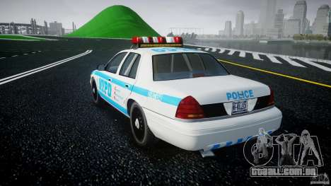 Ford Crown Victoria 2003 v.2 Police para GTA 4 traseira esquerda vista