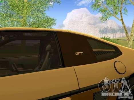 Pontiac Fiero V8 para GTA San Andreas vista traseira