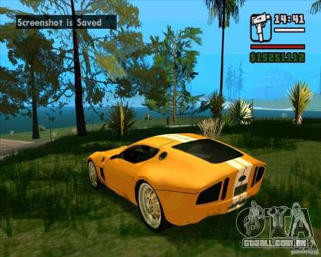 Shelby GR-1 para GTA San Andreas traseira esquerda vista
