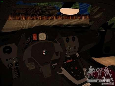 Alfa Romeo 8C Spider 2012 para GTA San Andreas vista traseira