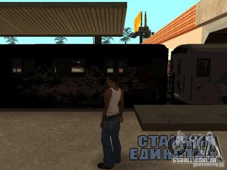 O trem de GTA IV para GTA San Andreas vista direita