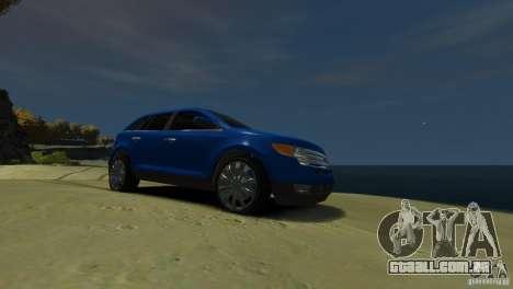 Ford Edge 2007 para GTA 4 vista de volta