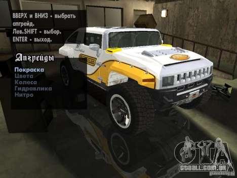 Hummer HX Concept from DiRT 2 para GTA San Andreas vista traseira
