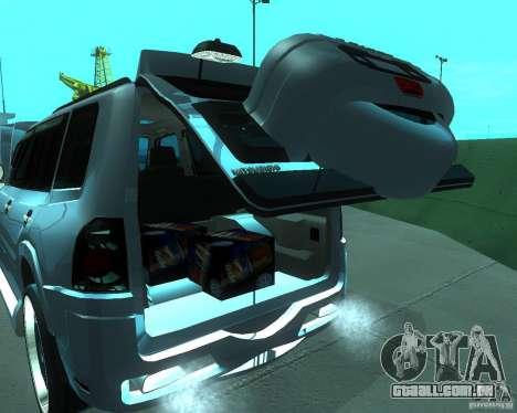 Mitsubishi Pajero STR I para GTA San Andreas vista traseira