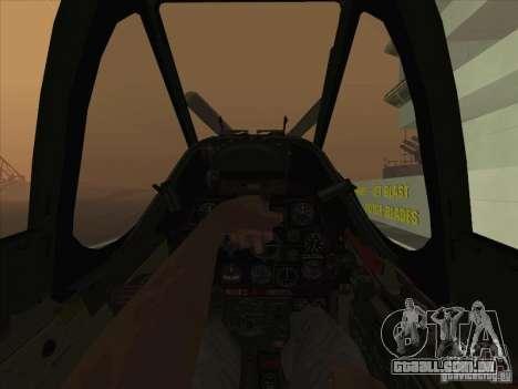 P51D Mustang Red Tails para GTA San Andreas vista traseira