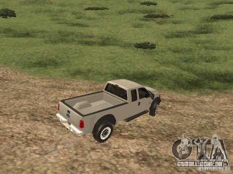 Ford Super Duty F-550 para GTA San Andreas traseira esquerda vista