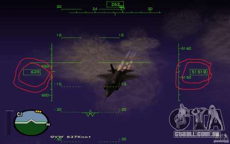 A mesosfera em vôo para GTA San Andreas segunda tela