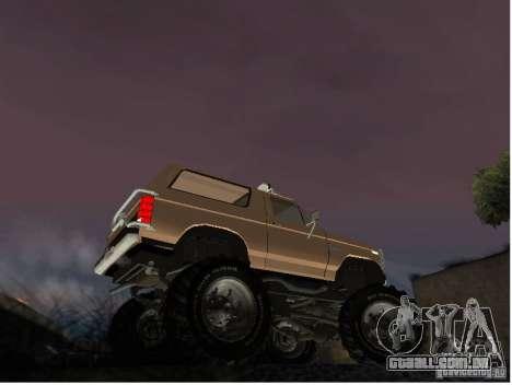 Ford Bronco IV Monster para GTA San Andreas traseira esquerda vista