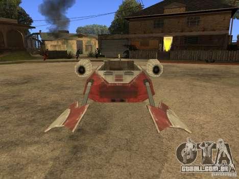 Bagagem de Star Wars para GTA San Andreas vista traseira