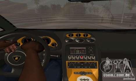 Lamborghini Gallardo para GTA San Andreas traseira esquerda vista