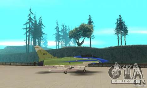Eurofighter 2010 para GTA San Andreas esquerda vista