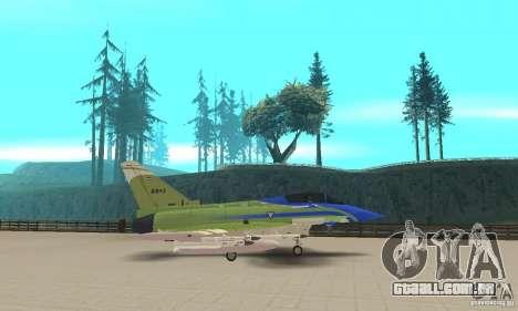 Eurofighter 2010 para GTA San Andreas esquerda vista