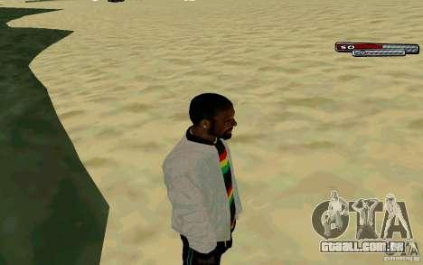 Jamaicano pele HD para GTA San Andreas terceira tela