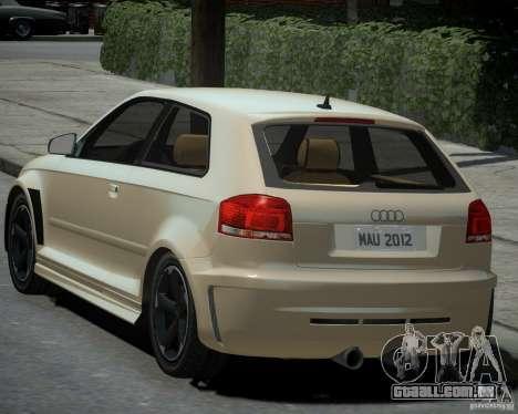 Audi S3 v2.0 para GTA 4 esquerda vista