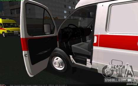 Ambulância de gazela 22172 para GTA San Andreas traseira esquerda vista