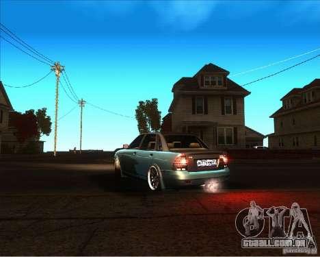 LADA 2170 Lambo para GTA San Andreas esquerda vista