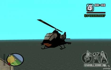 Urban Strike helicopter para GTA San Andreas