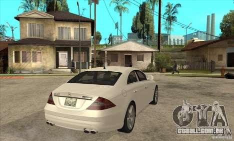 Mercedes-Benz CLS 63 AMG para GTA San Andreas vista direita