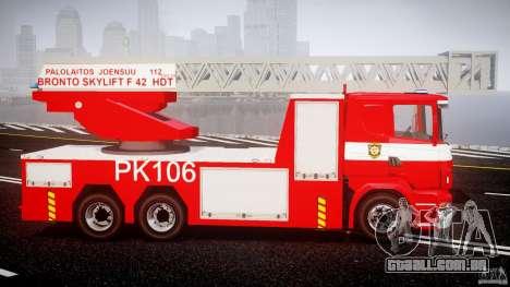 Scania R580 Fire ladder PK106 [ELS] para GTA 4 vista de volta