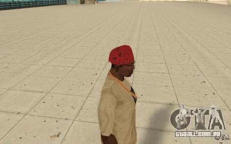 Bandana vermelha Maryshuana para GTA San Andreas segunda tela