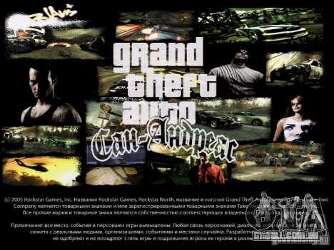 Menus e telas de carregamento, NFS Most Wanted para GTA San Andreas