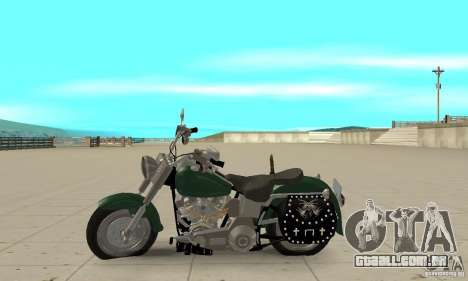 Harley Davidson FLSTF (Fat Boy) v2.0 Skin 1 para GTA San Andreas esquerda vista