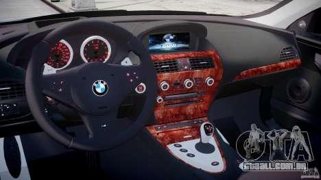 BMW M6 2010 v1.5 para GTA 4 vista direita