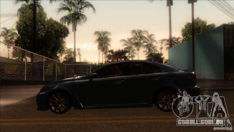 Lexus IS-F para GTA San Andreas esquerda vista