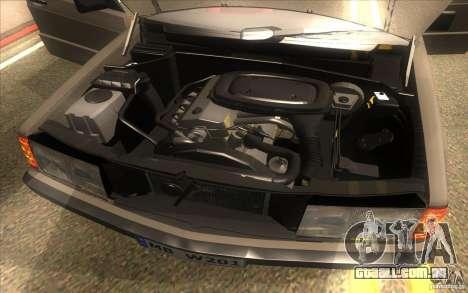 Mercedes-Benz 190E W201 para GTA San Andreas vista interior