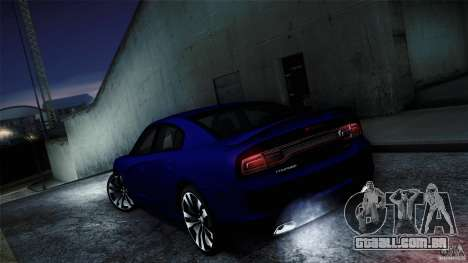 Dodge Charger SRT8 2012 para GTA San Andreas vista traseira