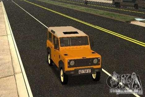 Land Rover Defender 110 para GTA San Andreas vista traseira