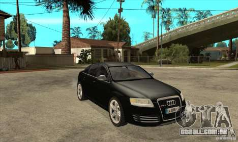 Audi RS6 2010 para GTA San Andreas vista traseira