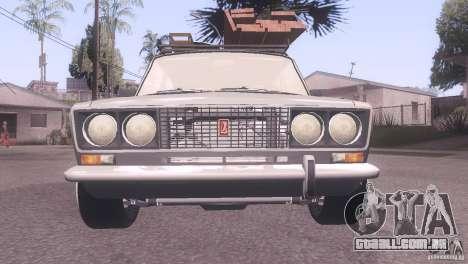 VAZ 2106 Tuning estilo Rat para GTA San Andreas traseira esquerda vista