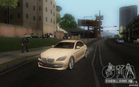 BMW 6 Series Gran Coupe 2013 para GTA San Andreas vista direita