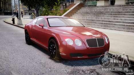 Bentley Continental GT 2004 para GTA 4 vista de volta