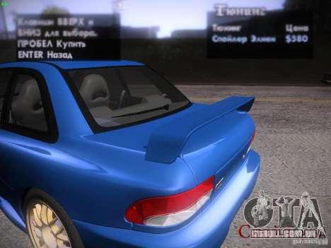 Subaru Impreza 22b Tunable para GTA San Andreas vista superior
