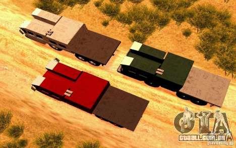 Maz-7310 Civil versão estreita para GTA San Andreas vista direita