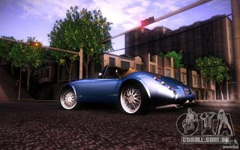 Wiesmann MF3 Roadster para GTA San Andreas traseira esquerda vista