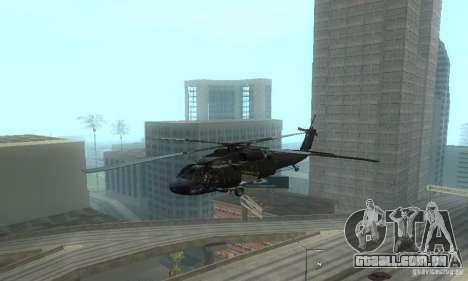 UH-60M Black Hawk para GTA San Andreas vista interior