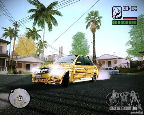Lada Granta-2190 vasos de ouro para GTA San Andreas
