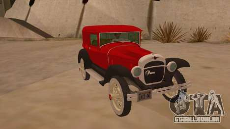 Pearce 1931 para GTA San Andreas vista traseira