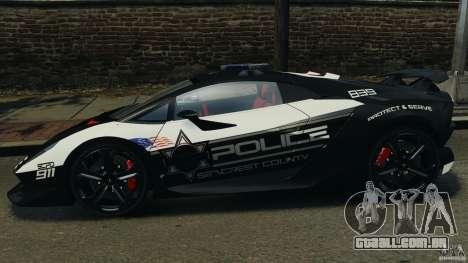 Lamborghini Sesto Elemento 2011 Police v1.0 RIV para GTA 4 esquerda vista