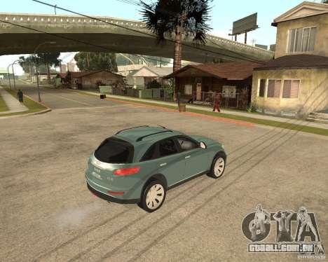 INFINITY FX45 para GTA San Andreas vista traseira
