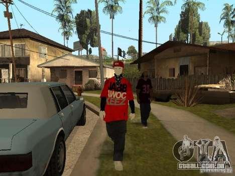 JabbaWockeeZ Skin para GTA San Andreas quinto tela